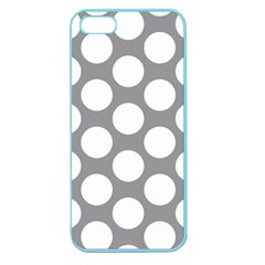 Grey Polkadot Apple Seamless Iphone 5 Case (color) by Zandiepants