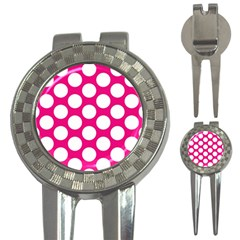 Pink Polkadot Golf Pitchfork & Ball Marker by Zandiepants
