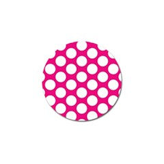 Pink Polkadot Golf Ball Marker 4 Pack by Zandiepants