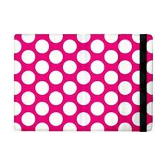 Pink Polkadot Apple Ipad Mini Flip Case by Zandiepants