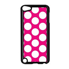 Pink Polkadot Apple Ipod Touch 5 Case (black) by Zandiepants