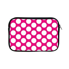 Pink Polkadot Apple Ipad Mini Zippered Sleeve by Zandiepants