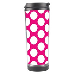 Pink Polkadot Travel Tumbler by Zandiepants