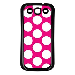 Pink Polkadot Samsung Galaxy S3 Back Case (black) by Zandiepants