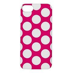 Pink Polkadot Apple Iphone 5s Hardshell Case