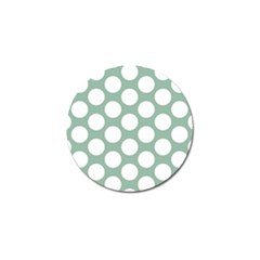 Jade Green Polkadot Golf Ball Marker 4 Pack by Zandiepants