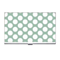 Jade Green Polkadot Business Card Holder by Zandiepants