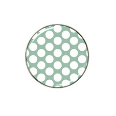 Jade Green Polkadot Golf Ball Marker 4 Pack (for Hat Clip) by Zandiepants