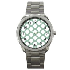 Jade Green Polkadot Sport Metal Watch by Zandiepants