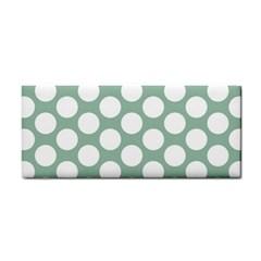 Jade Green Polkadot Hand Towel by Zandiepants