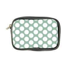 Jade Green Polkadot Coin Purse