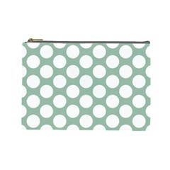 Jade Green Polkadot Cosmetic Bag (large) by Zandiepants