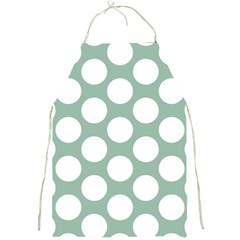 Jade Green Polkadot Apron by Zandiepants