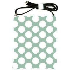 Jade Green Polkadot Shoulder Sling Bag by Zandiepants