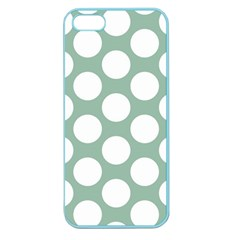 Jade Green Polkadot Apple Seamless Iphone 5 Case (color) by Zandiepants