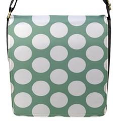Jade Green Polkadot Flap Closure Messenger Bag (small) by Zandiepants