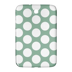 Jade Green Polkadot Samsung Galaxy Note 8 0 N5100 Hardshell Case  by Zandiepants