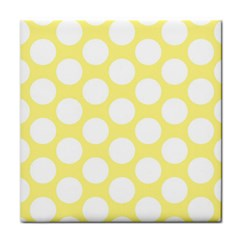 Yellow Polkadot Ceramic Tile by Zandiepants