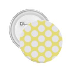 Yellow Polkadot 2 25  Button by Zandiepants