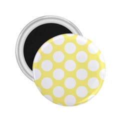 Yellow Polkadot 2 25  Button Magnet by Zandiepants
