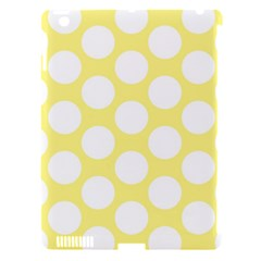 Yellow Polkadot Apple Ipad 3/4 Hardshell Case (compatible With Smart Cover)