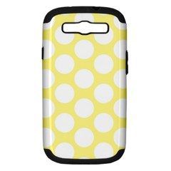 Yellow Polkadot Samsung Galaxy S Iii Hardshell Case (pc+silicone) by Zandiepants