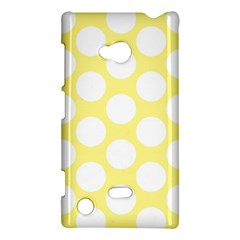 Yellow Polkadot Nokia Lumia 720 Hardshell Case by Zandiepants