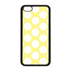 Yellow Polkadot Apple Iphone 5c Seamless Case (black) by Zandiepants