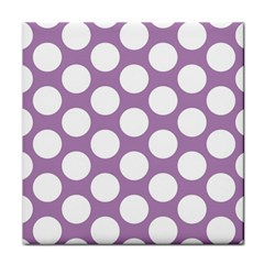 Lilac Polkadot Ceramic Tile by Zandiepants