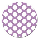 Lilac Polkadot Magnet 5  (Round) Front