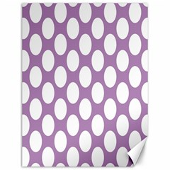 Lilac Polkadot Canvas 12  X 16  (unframed) by Zandiepants