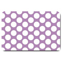 Lilac Polkadot Large Door Mat by Zandiepants