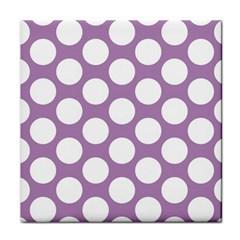 Lilac Polkadot Face Towel by Zandiepants
