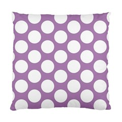 Lilac Polkadot Cushion Case (single Sided)  by Zandiepants