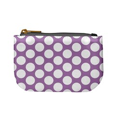 Lilac Polkadot Coin Change Purse