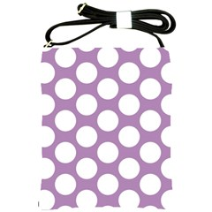 Lilac Polkadot Shoulder Sling Bag by Zandiepants