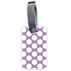 Lilac Polkadot Luggage Tag (one Side) by Zandiepants