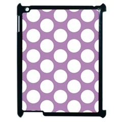 Lilac Polkadot Apple Ipad 2 Case (black) by Zandiepants