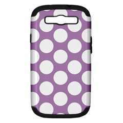 Lilac Polkadot Samsung Galaxy S Iii Hardshell Case (pc+silicone) by Zandiepants
