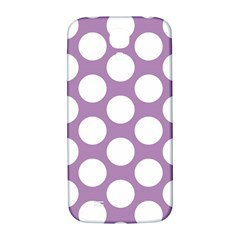 Lilac Polkadot Samsung Galaxy S4 I9500/i9505  Hardshell Back Case by Zandiepants