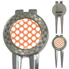 Orange Polkadot Golf Pitchfork & Ball Marker by Zandiepants