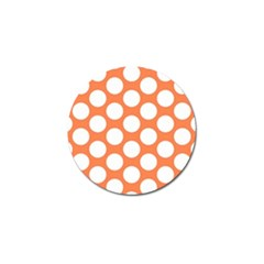 Orange Polkadot Golf Ball Marker 4 Pack