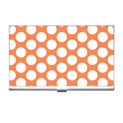 Orange Polkadot Business Card Holder