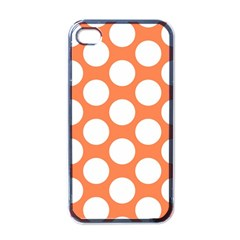 Orange Polkadot Apple Iphone 4 Case (black) by Zandiepants
