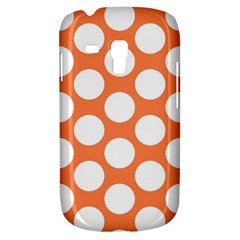 Orange Polkadot Samsung Galaxy S3 Mini I8190 Hardshell Case by Zandiepants