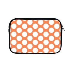 Orange Polkadot Apple Ipad Mini Zippered Sleeve by Zandiepants