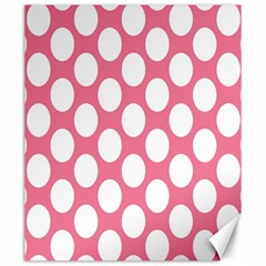 Pink Polkadot Canvas 20  X 24  (unframed) by Zandiepants