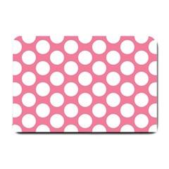 Pink Polkadot Small Door Mat by Zandiepants