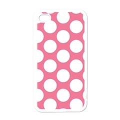 Pink Polkadot Apple iPhone 4 Case (White) by Zandiepants