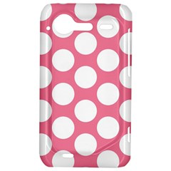 Pink Polkadot HTC Incredible S Hardshell Case  by Zandiepants